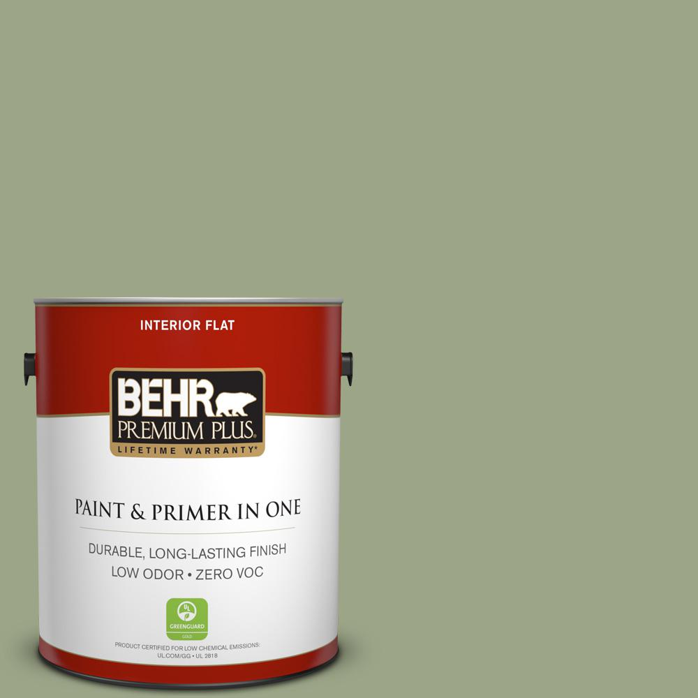 1 gal. #PPU11-07 Clary Sage Zero VOC Flat Interior Paint