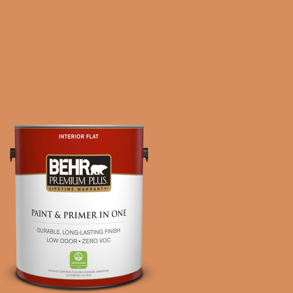 BEHR Premium Plus 1-gal. #M220-6 Pumpkin Puree Flat Interior Paint