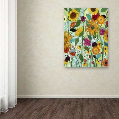 "47 in. x 35 in. ""Sunflower House"" by Carrie Schmitt Printed Canvas Wall Art"