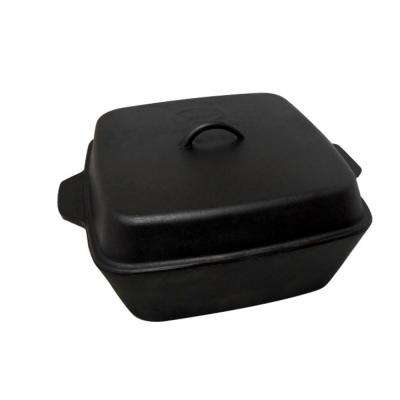 12 qt. Seasoned Cast Iron Roaster with Cast Iron Lid