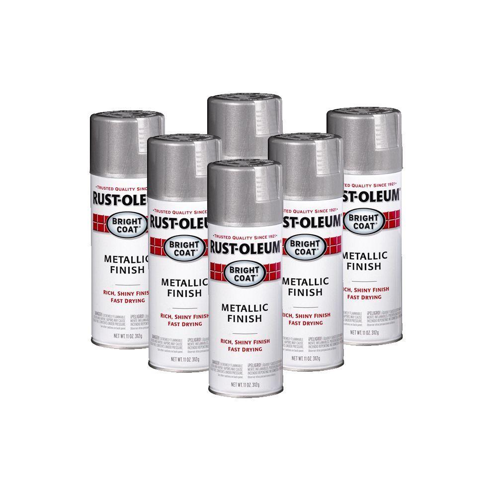 Rust-Oleum Stops Rust 11 oz. Aluminum Metallic Spray (6-Pack)-DISCONTINUED