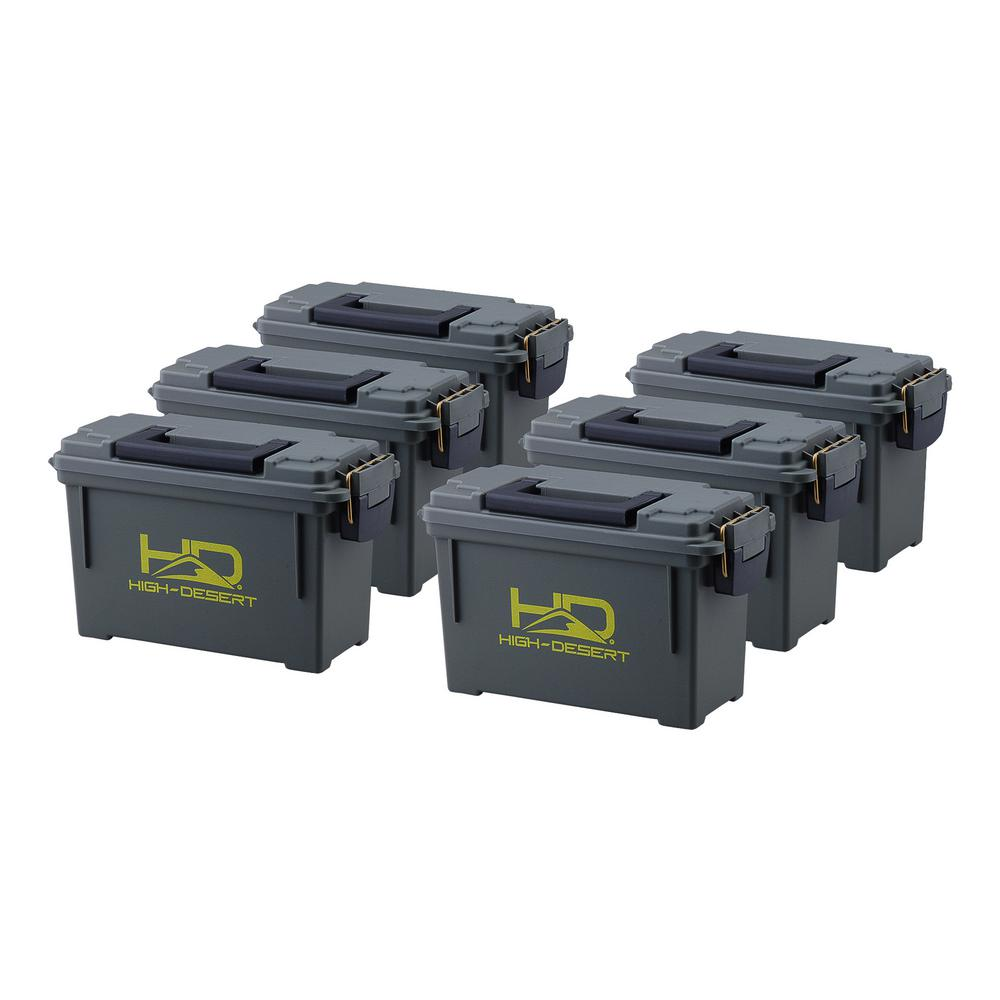 High Desert Plastic Ammo Boxes (6-Pack)  sc 1 st  Home Depot & High Desert Plastic Ammo Boxes (6-Pack)-10110 - The Home Depot