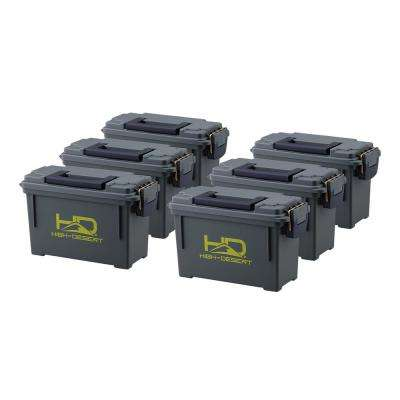 Plastic Ammo Boxes (6-Pack)