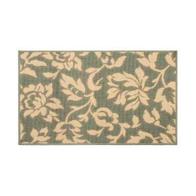 Bennet Ash Green 6 ft. x 4 ft. Indoor/Outdoor Area Rug