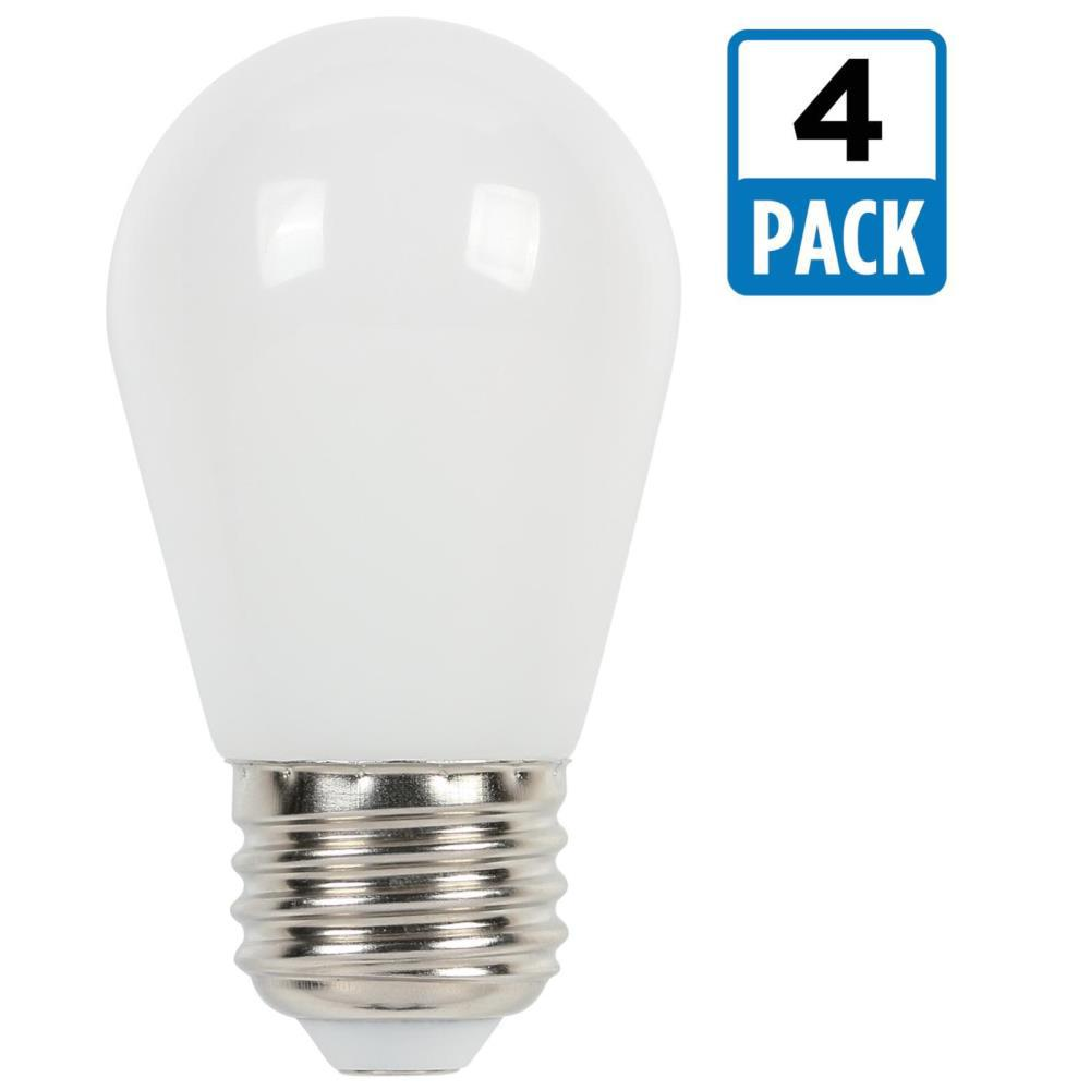 Westinghouse 11w Equivalent Frosted S14 Led Light Bulb 4 Pack 3511520 The Home Depot