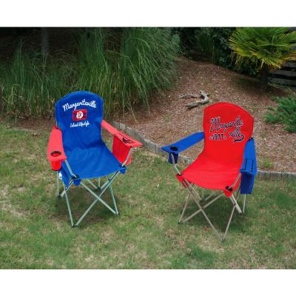 1977 Red/Blue Steel Quad Lawn Chair