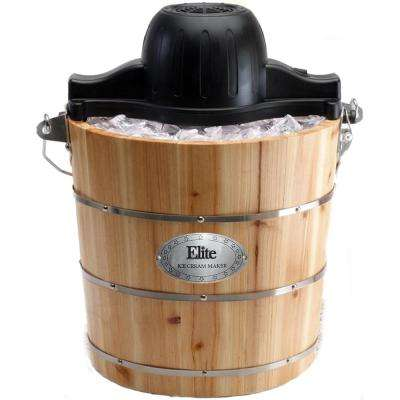 Gourmet 4 Qt. Old Fashioned Pine Wood Bucket Ice Cream Maker