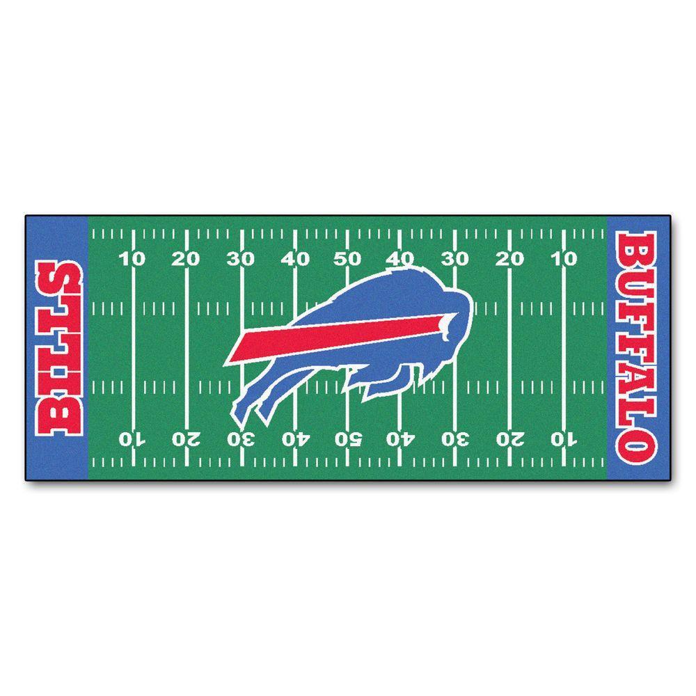 Fanmats Buffalo Bills 3 Ft X 6 Ft Football Field Rug