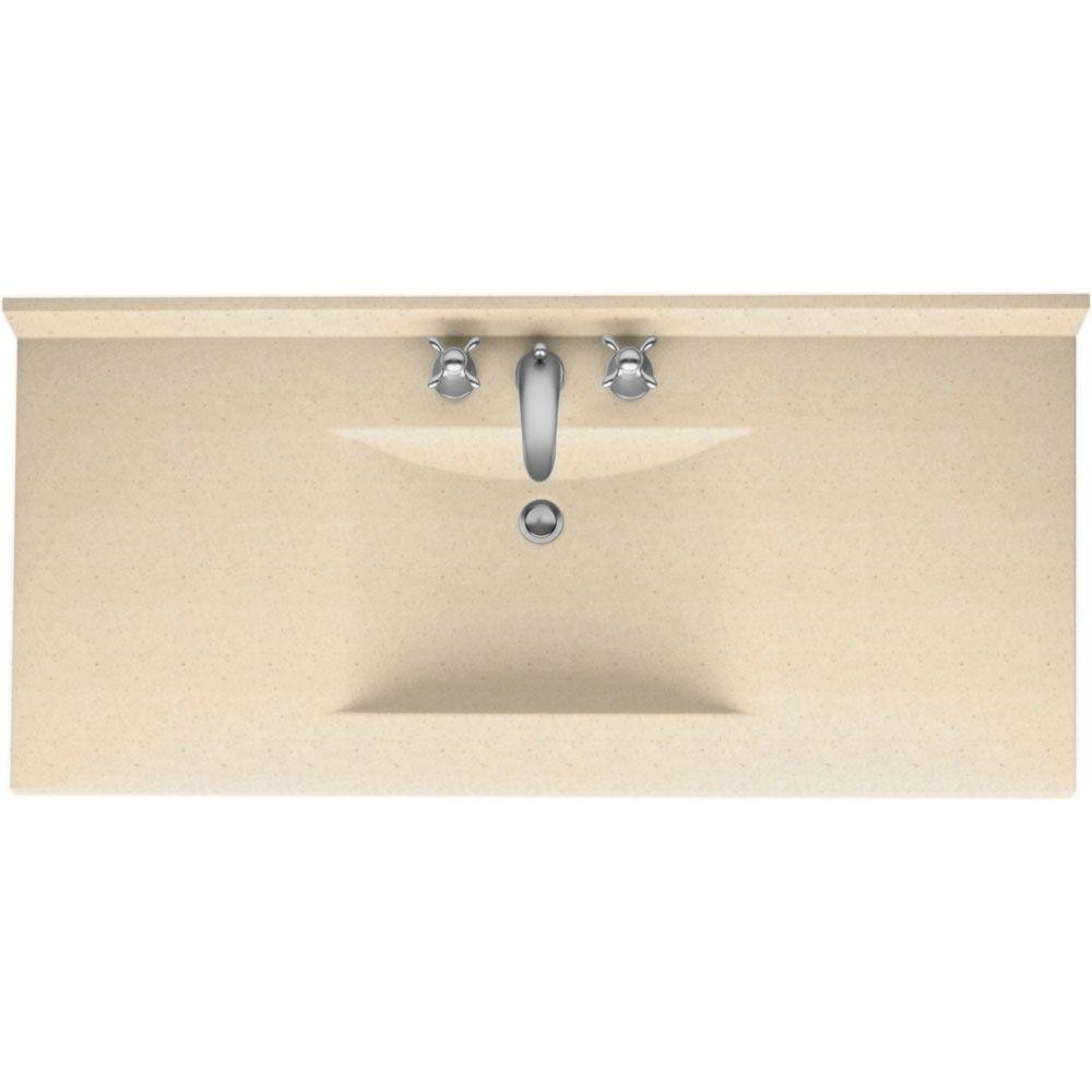 Solid Surface Vanity Tops For Bathrooms Style Selections Sq2 Pepper Solid Surface Single Sink