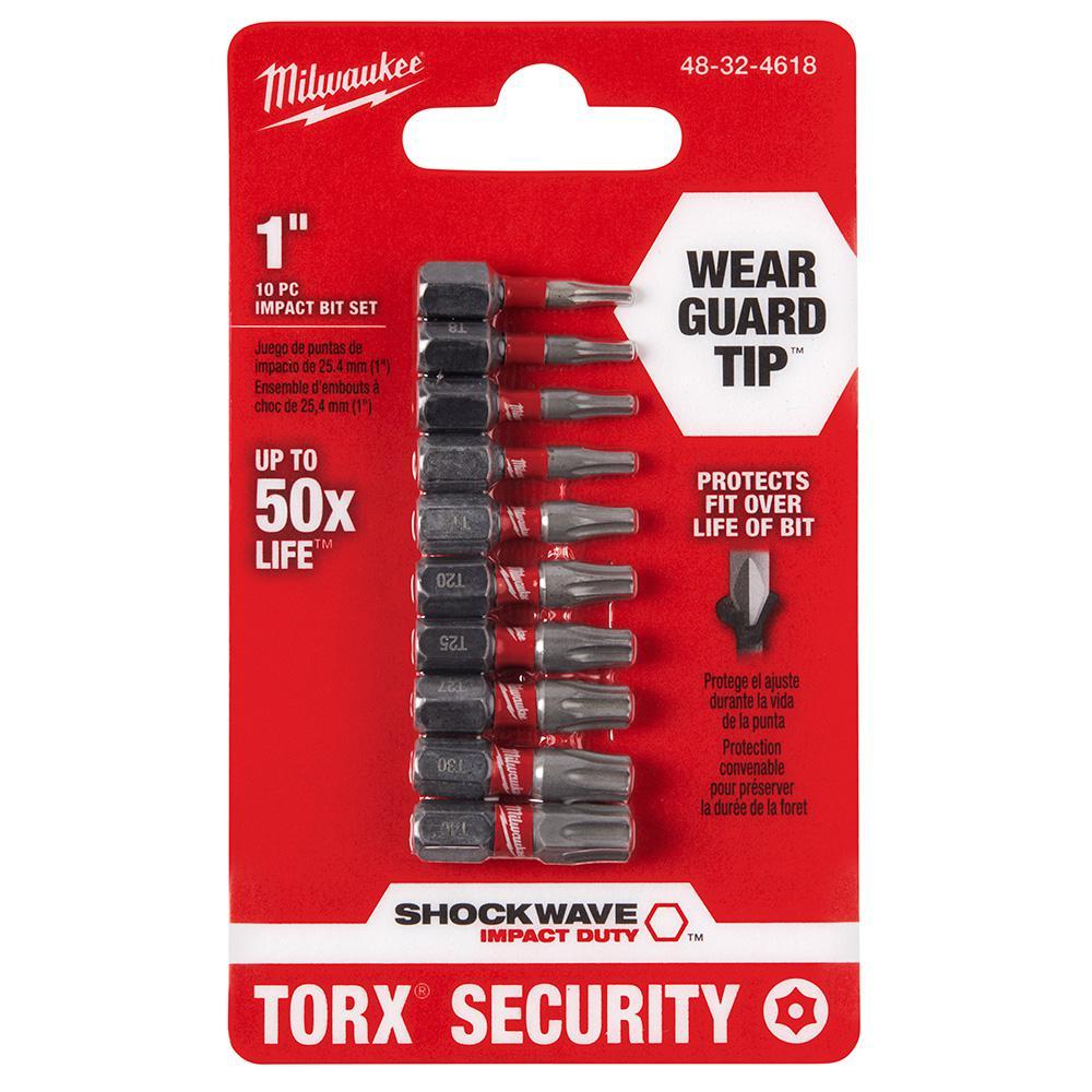 Milwaukee Milwaukee Shockwave Impact Duty Steel Torx Security Bit Set (10-Piece)