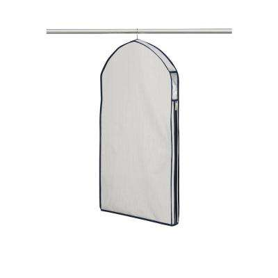 22 in. W x 40 in. H Light Gray Suit Garment Bag