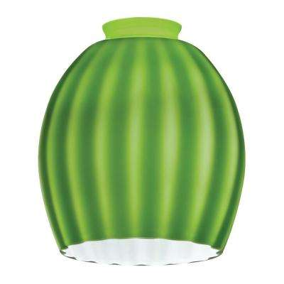 Green Melon Ball Shade LED Mini Pendant