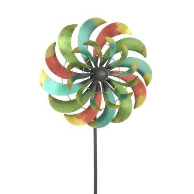Multi-Colored Windmill Stake