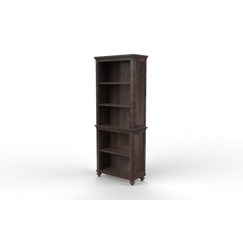 Tacoma Hill Espresso 5 Shelf Bookcase