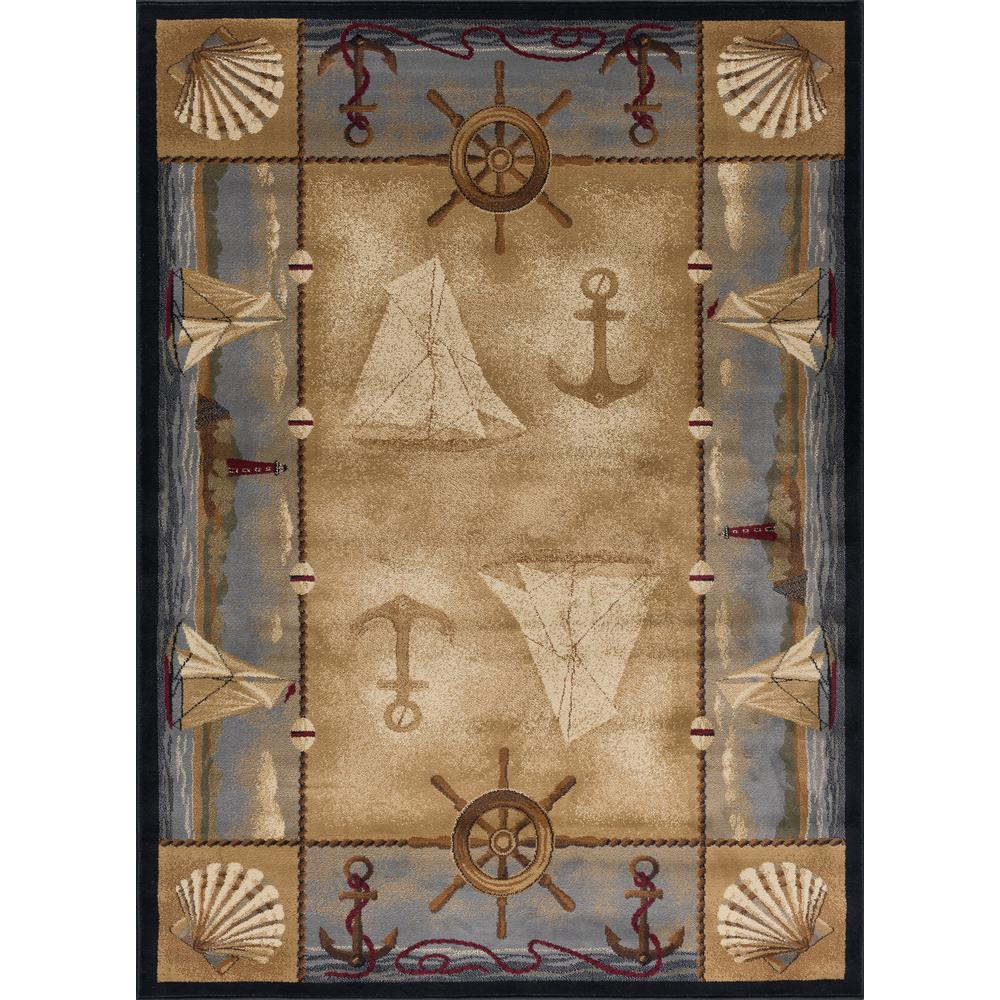 Tayse Rugs Nature Beige 4 Ft X 5 Ft Indoor Area Rug Ntr6582 4x6