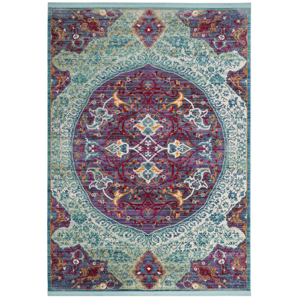 Purple Turquoise Rag Rug: Safavieh Sutton Purple/Turquoise 5 Ft. X 7 Ft. Area Rug