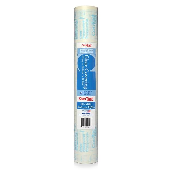 Con-Tact Clear Covering Glossy Clear Adhesive Shelf and Drawer Liner