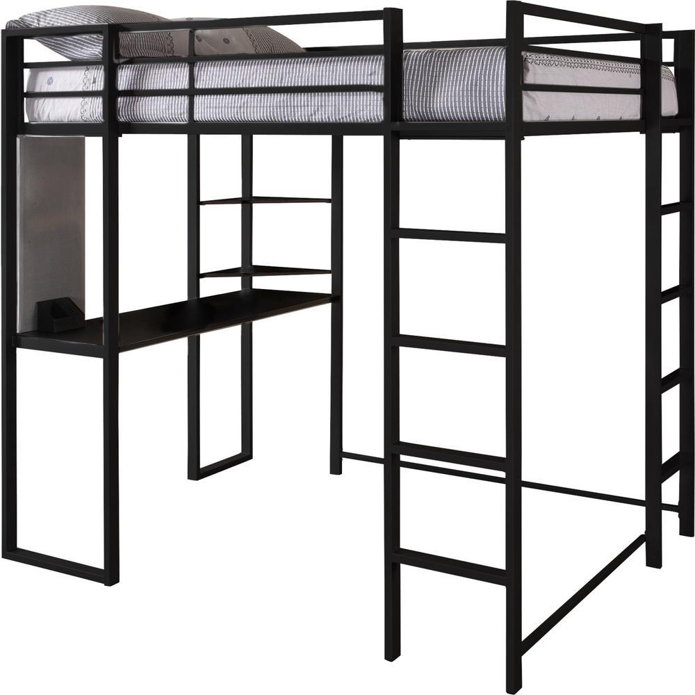 87d7b3d9f83e0 Internet  305138800. +2. DHP Alana Black Full Metal Loft Bed with Desk