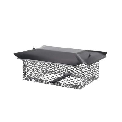 20-1/2 in. x 13 in. Chimney Cap in Black Galvanized Steel