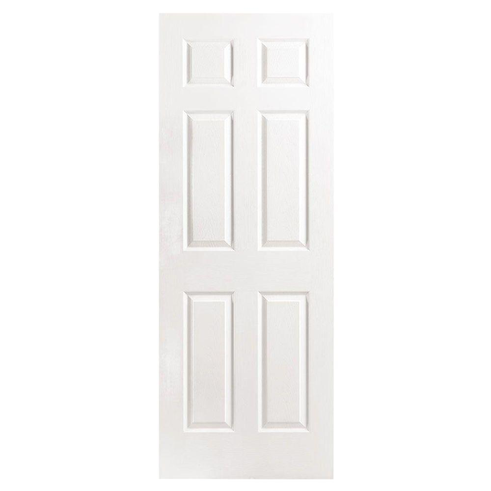 Nice Textured 6 Panel Hollow Core Primed Composite Interior Door Slab 16474    The Home Depot