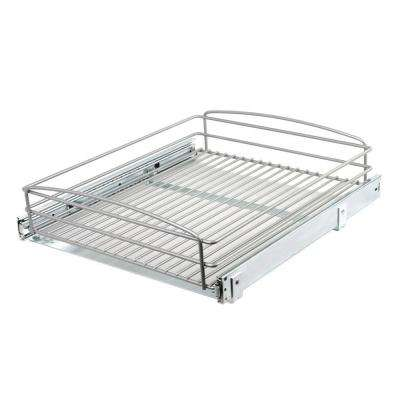 5 in. H x 18 in. W 20 in. D Multi-Use Pull-Out Basket Cabinet Organizer