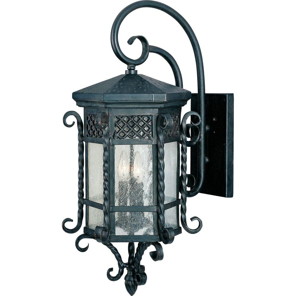 Maxim Lighting Scottsdale 3 Light Country Forge Outdoor Wall Mount Sconce