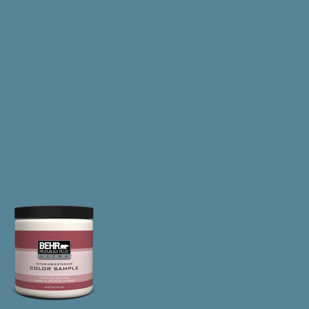 S480 5 Blue Moon Bay Matte Interior Exterior Paint And Primer In One Sample
