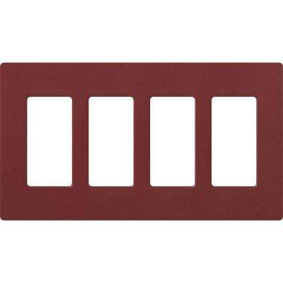 Claro 4 Gang Decorator Wallplate, Merlot
