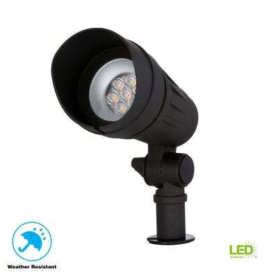 Low-Voltage 50-Watt Equivalent Black Outdoor Integrated LED Landscape Spot Light