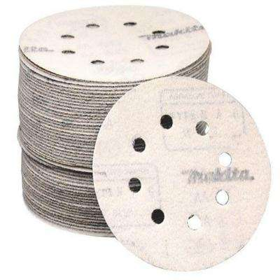 5 in. 40-Grit Hook and Loop Round Abrasive Disc (50-Pack) for Orbital Sander
