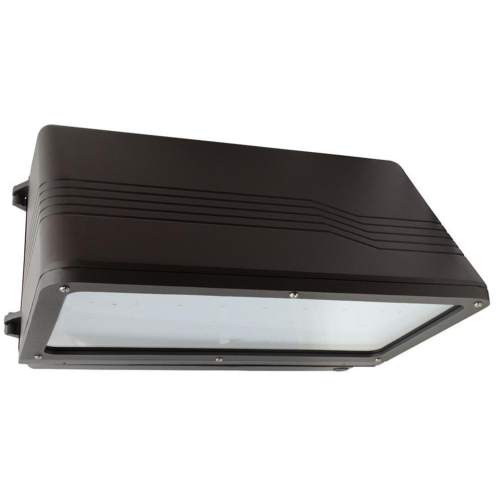56-Watt Bronze Outdoor Integrated LED Large Full Cutoff Wall Pack Light