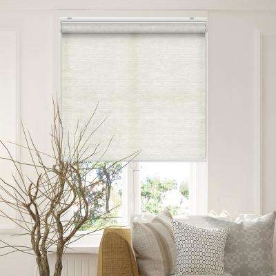 Snap-N'-Glide Felton Sand Polyester Cordless Horizontal Roller Shades - 27 in. W x 72 in. L