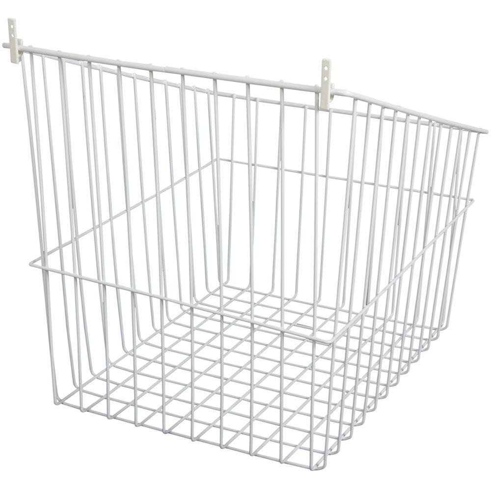 knape  u0026 vogt 17 in  w tilt out wire hamper in white-to1716-1-w