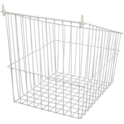 17 in. W Tilt Out Wire Hamper in White