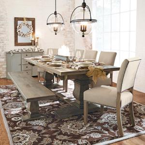 12 Home Decorators Collection Aldridge Antique Grey Extendable Dining Table