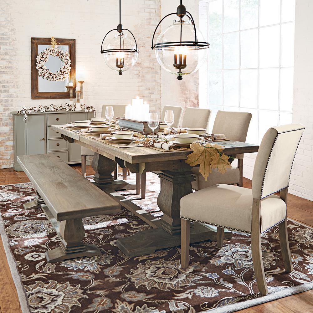 Home Decorators Collection Aldridge Antique Grey Extendable