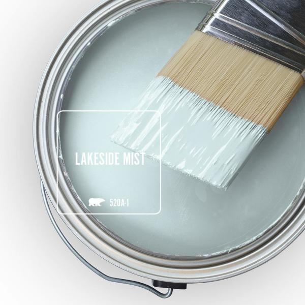 Reviews For Behr Marquee 1 Gal 520a 1 Lakeside Mist Satin Enamel Exterior Paint Primer 945001 The Home Depot