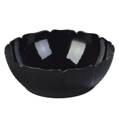 9 in. Diameter Polycarbonate Patterned Bowl in Black (Case of 12)
