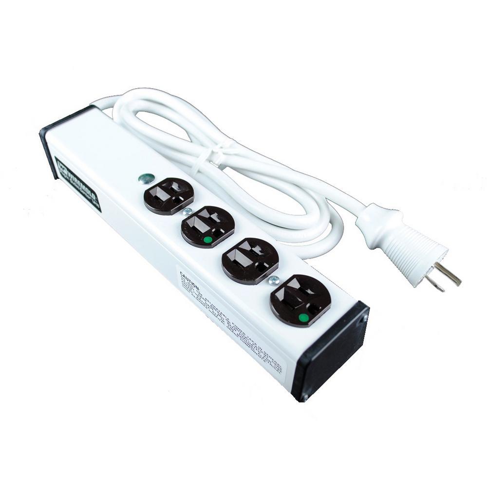 Wiremold 15 Amp 4-Outlet Medical/Dental Grade Plug-in-Outlet-Center, 15 ft. Cord (Not for Patient Care)