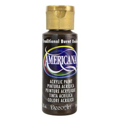 Americana 2 oz. Traditional Burnt Umber Acrylic Paint