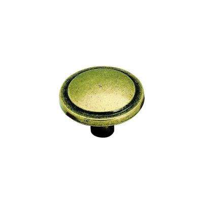 Traditional Classic 1-3/16 in. Burnished Brass Cabinet Knob