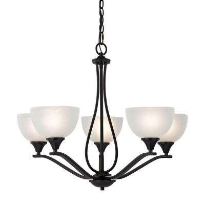 Bristol Lane 5-Light Oil-Rubbed Bronze Chandelier
