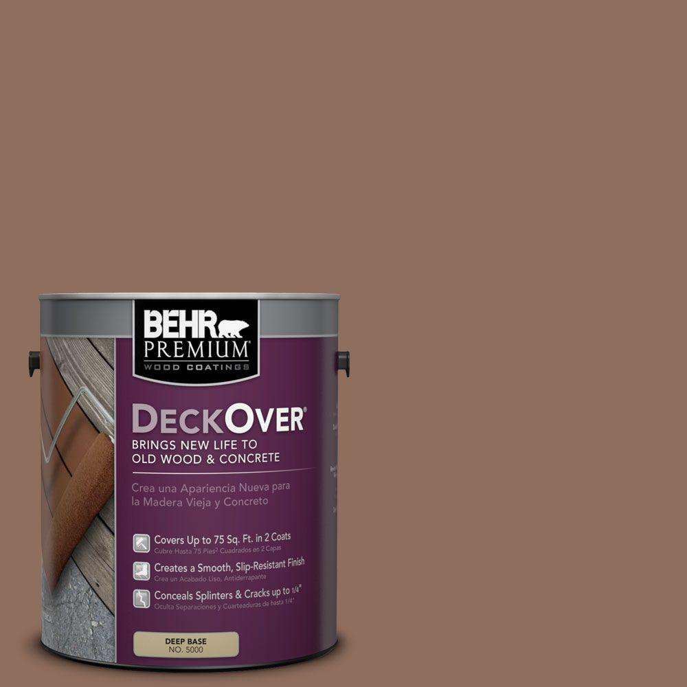 BEHR Premium DeckOver 1 gal. #SC-148 Adobe Brown Wood and Concrete Coating