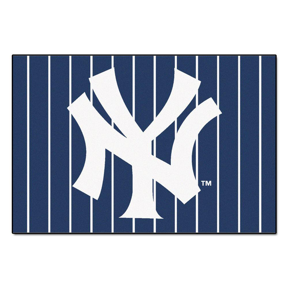 Fanmats New York Yankees 5 Ft X 8 Ft Area Rug 6962 The