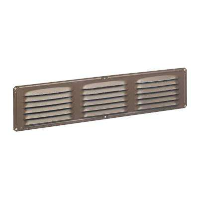 Undereave 16 in. x 4 in. Louvered Aluminum Soffit Vent in Brown (Sold Soffit Vent in 24-Pieces/Carton Only)