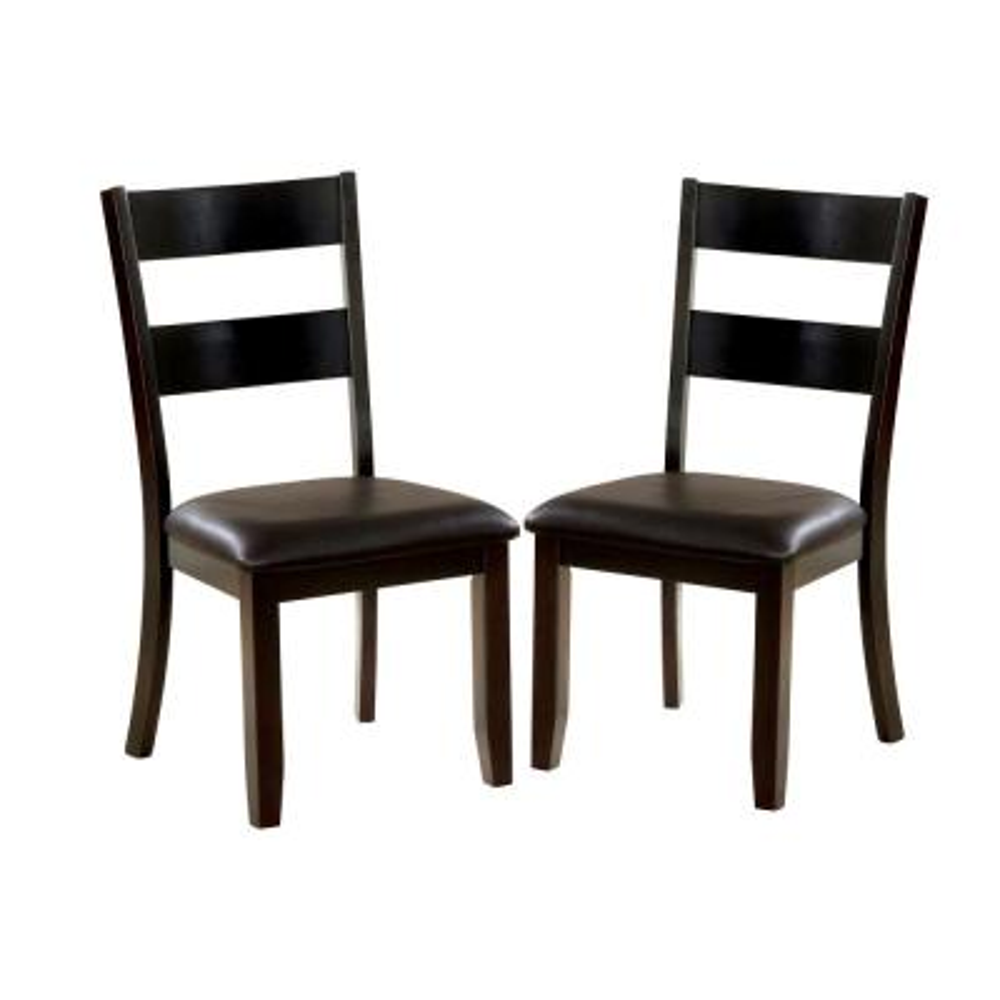 Chelsea Dark Brown and Dark Oak Side Chairs (Set of 2)