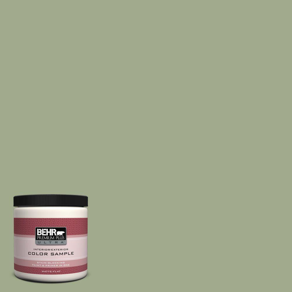 8 oz. #420F-4 Sagey Matte Interior/Exterior Paint and Primer in One