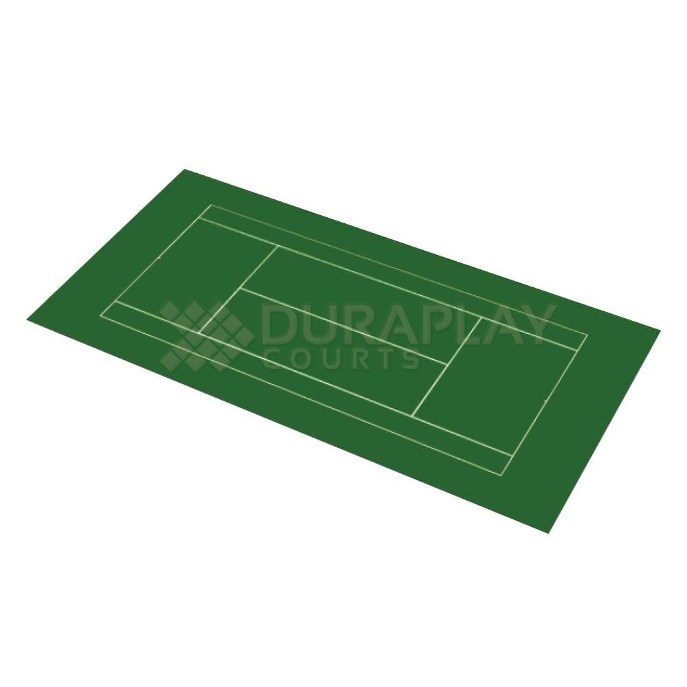 DuraPlay 50 ft. 6 in. x 99 ft. 10 in. Slate Green and Slate Green Full Tennis Court Kit