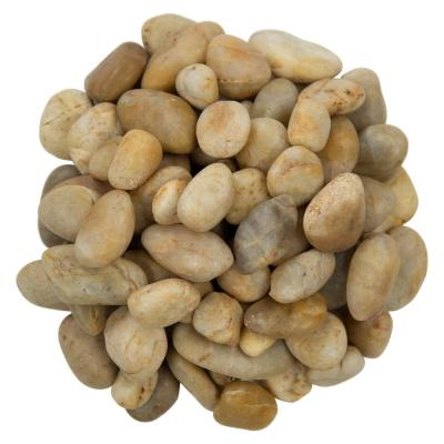 0.5 cu. ft. 0.75 in. to 1.25 in. 40 lbs. Small Yellow Pebbles Bag