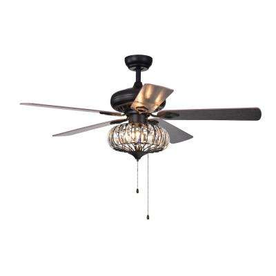 Chrysaor 52 in. Indoor Brown Ceiling Fan with Light Kit